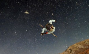 Torin Yater-Wallace flies above the Buttermilk Half Pipe in Aspen, CO.